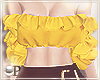 Ruffles Top Yellow