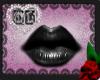 Black Dark Lip Glos mesh