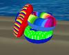 Pool Float Rings pile