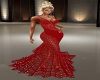 de red dress