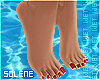 § BARE FEET Red