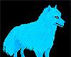blue wolf inside