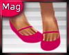 Dark Pink Flats