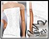 ~S~White wedding gown