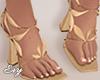 Golden Petal Heels