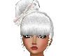 White Bun w/ Floral Bow