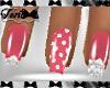 Pink Embellished Nails