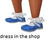 kids blue pageant shoes