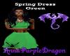 Spring Dress Green