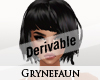 Derivable carre hair