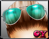 *D* Turquoise Glasses