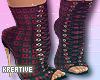 Red Plaid Heels