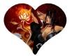 fire rose heart