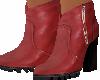 botines piel roja
