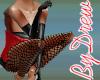 Red Barsk Fishnet&Gloves