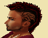 Dark Red Tribal Mohawk