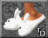 *T Bunny Slippers White