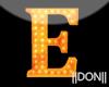E Orange Neon Lamps