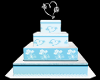 ~ES~WEDDING CAKE BL/WHTE