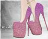 ℳ. Pink Glitter Heels