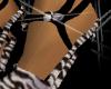 ~Zebra Blk Bling Heels