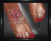 Rose Tat & Toenails