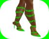 Lime green boots