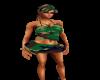 Camo Skirt Green