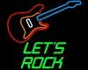 Neon Lets Rock w/guitar
