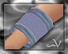 ~V Blue Workout Wristban
