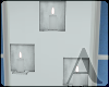 ! white wall candles