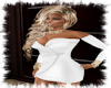 white silver knited dres