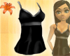 Long Silk Cami Black