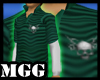 M Skull Green Polo Shirt