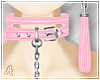 A| Pink Choker + Leash