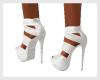 JUK White Platform Heels