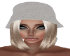 White Knit Hat-Blonde