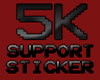 *M* 5K SUPPORT STICKER