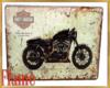 Harley bike rider poster