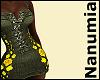 black jeansflower dress