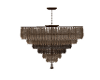 Two tone brow Chandelier