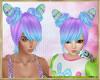 ~H~Kid Hop Hair Purblu
