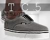 Grey white sneakers