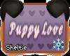 *S* Puppy Love Sign