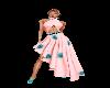 Pink & Teal Evening Dres