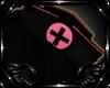 Nurse Hat Pink/Black