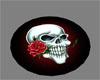Red Night Circle Rug