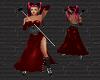 RED PVC Vampire Dress