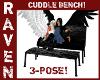 Black Anim Cuddle Bench