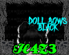 *H4*DollBlackBows